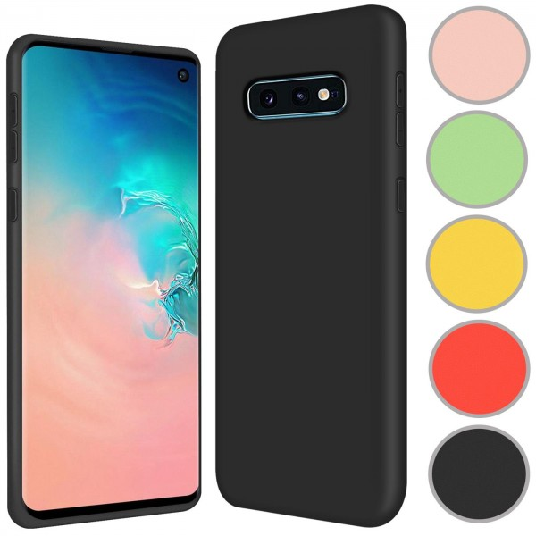 Safers Color TPU für Samsung Galaxy S10e Hülle Soft Silikon Case mit innenliegendem Stoffbezug
