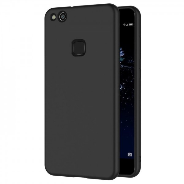 Safers Classic TPU für Huawei P10 Lite Schutzhülle Hülle Schwarz Handy Case