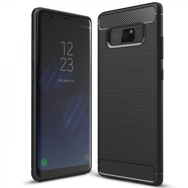 Safers Carbon Hülle für Samsung Galaxy Note 8 Schutzhülle Handy Case Cover