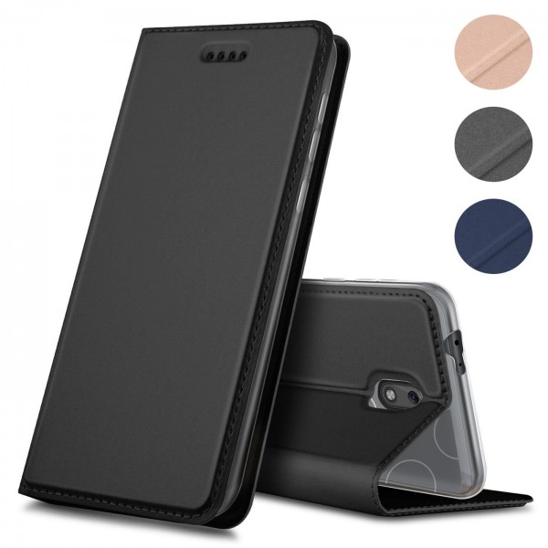 Safers Electro Flip für Nokia 2.2 Hülle Magnet Case Handy Tasche Klapphülle