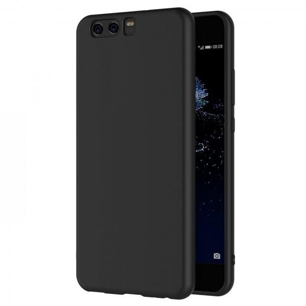 Safers Classic TPU für Huawei P10 Schutzhülle Hülle Schwarz Handy Case