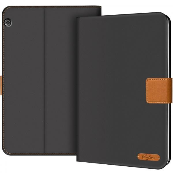 Safers Texture Case für Huawe MediaPad T5 10.1 Hülle Tablet Tasche mit Kartenfach