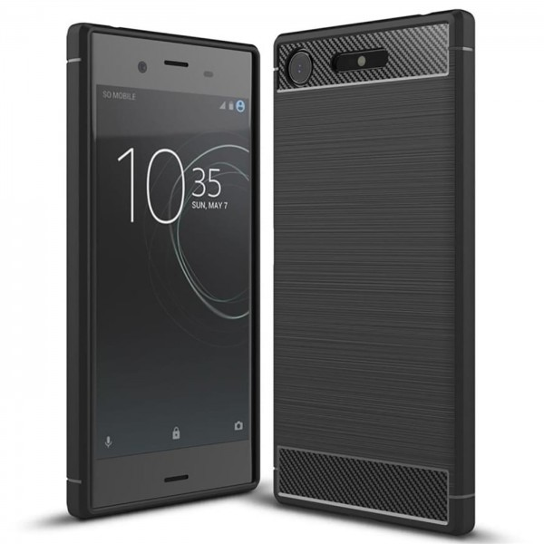 Safers Carbon Hülle für Sony Xperia XZ1 Compact Schutzhülle Handy Case Cover