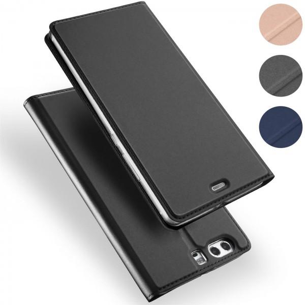 Safers Electro Flip für Huawei P10 Hülle Magnet Case Handy Tasche Klapphülle