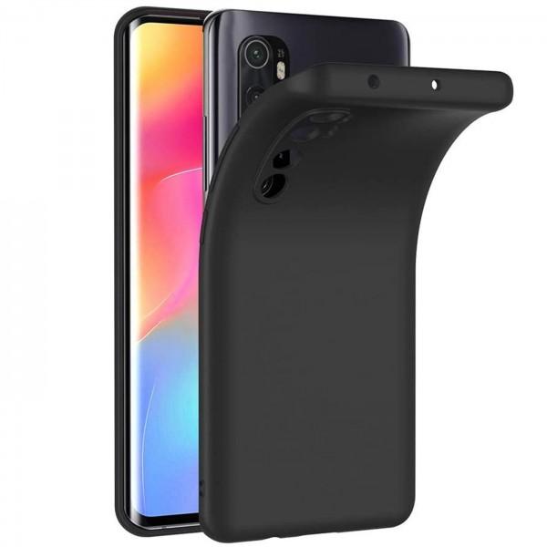 Safers Classic TPU für Xiaomi Mi Note 10 Lite Schutzhülle Hülle Schwarz Handy Case