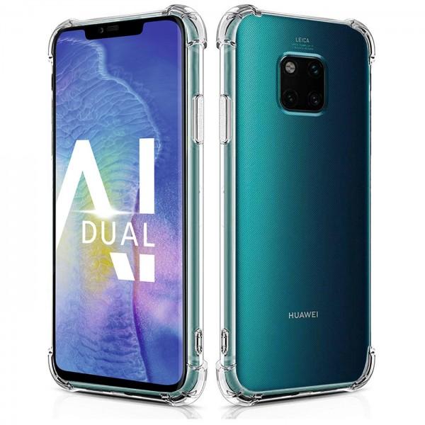 Safers Rugged TPU für Huawei Mate 20 Pro Schutzhülle Anti Shock Handy Case Transparent Cover