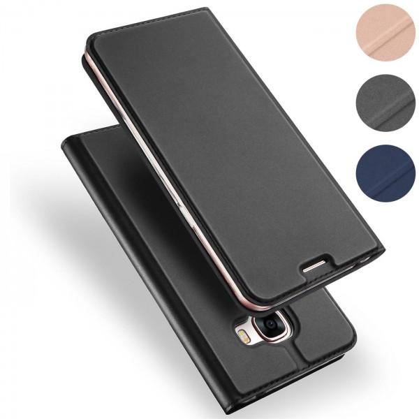 Safers Electro Flip für Samsung Galaxy A5 2017 Hülle Magnet Case Handy Tasche Klapphülle