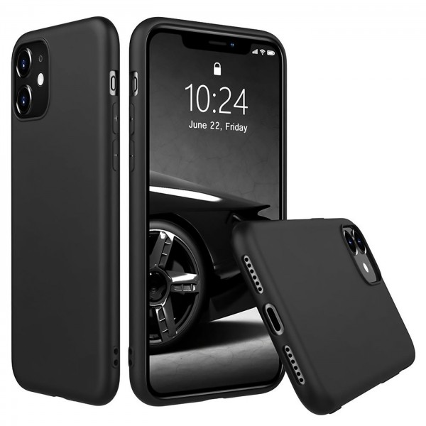 Safers Classic TPU für Apple iPhone 11 Schutzhülle Hülle Schwarz Handy Case