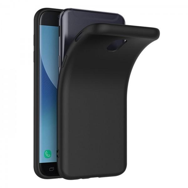 Safers Classic TPU für Samsung Galaxy J7 2017 Schutzhülle Hülle Schwarz Handy Case