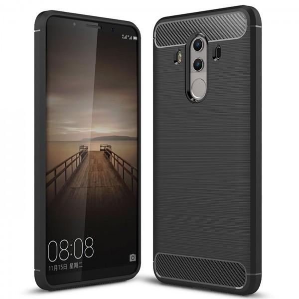 Safers Carbon Hülle für Huawei Mate 10 Pro Schutzhülle Handy Case Cover