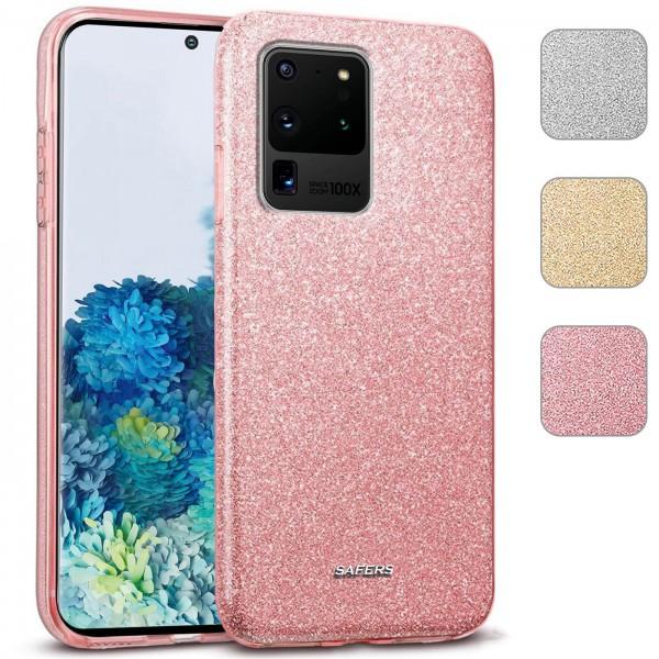 Safers Shiny für Samsung Galaxy S20 Ultra Hülle Glitzer Cover TPU Schutzhülle
