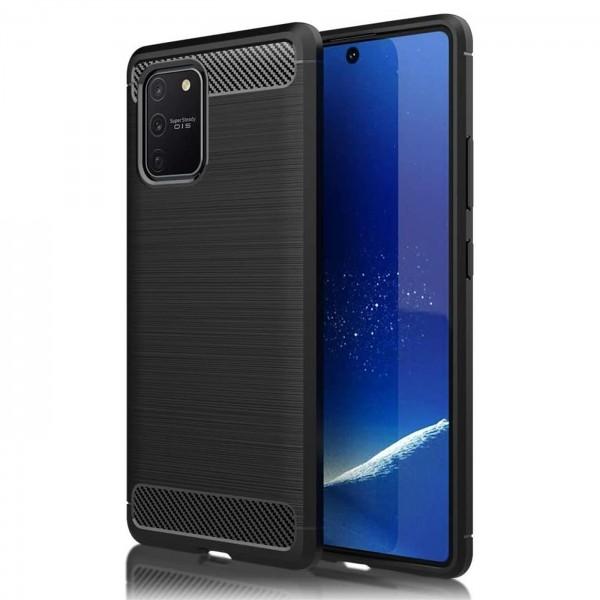 Safers Carbon Hülle für Samsung Galaxy S10 Lite Schutzhülle Handy Case Cover