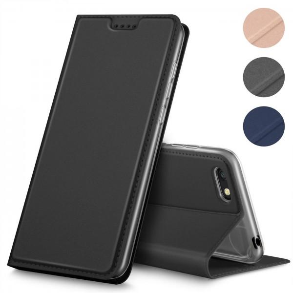 Safers Electro Flip für Huawei Y5 2018 Hülle Magnet Case Handy Tasche Klapphülle