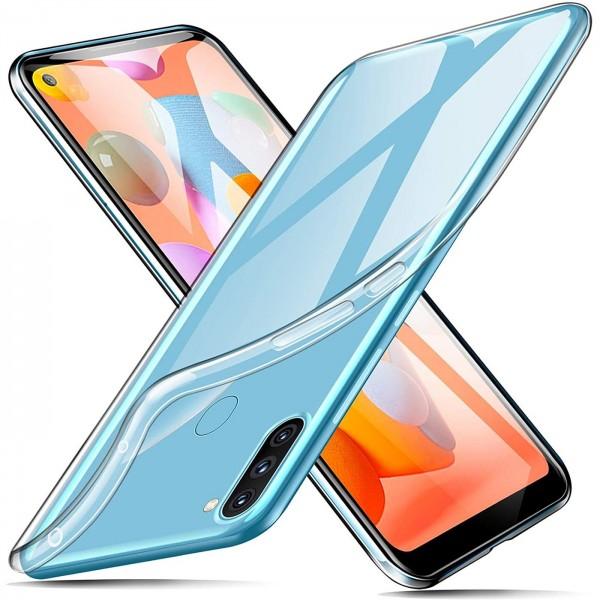 Safers Zero Case für Samsung Galaxy M11 Hülle Transparent Slim Cover Clear Schutzhülle