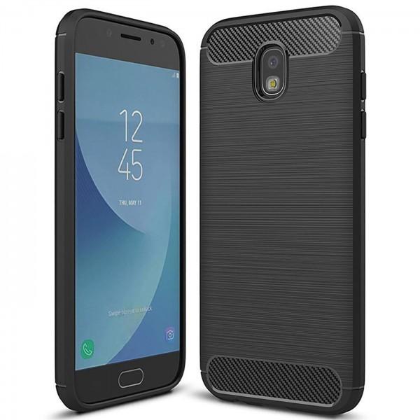 Safers Carbon Hülle für Samsung Galaxy J3 2017 Schutzhülle Handy Case Cover