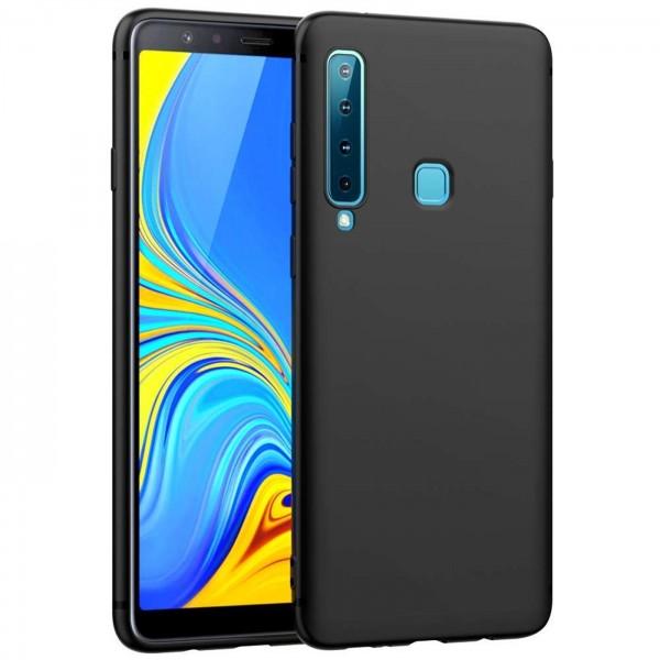 Safers Classic TPU für Samsung Galaxy A9 2018 Schutzhülle Hülle Schwarz Handy Case