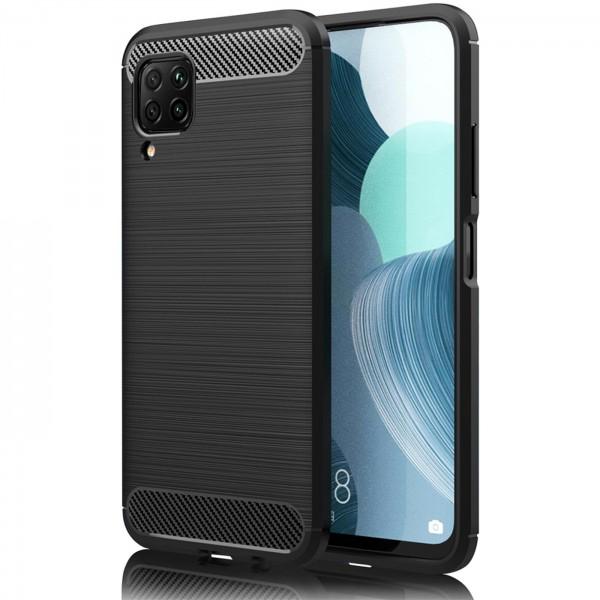 Safers Carbon Hülle für Huawei P40 Lite Schutzhülle Handy Case Cover