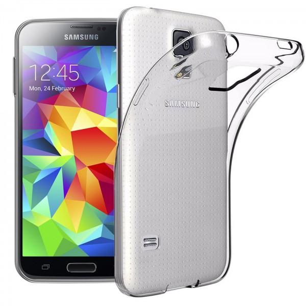 Safers Zero Case für Samsung Galaxy S5 Hülle Transparent Slim Cover Clear Schutzhülle