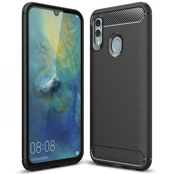 Safers Carbon Hülle für Huawei P Smart 2019 Schutzhülle Handy Case Cover