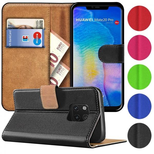 Safers Basic Wallet für Huawei Mate 20 Pro Hülle Bookstyle Klapphülle Handy Schutz Tasche