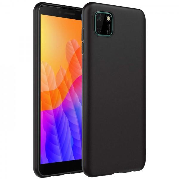 Safers Classic TPU für Huawei Y5p Schutzhülle Hülle Schwarz Handy Case