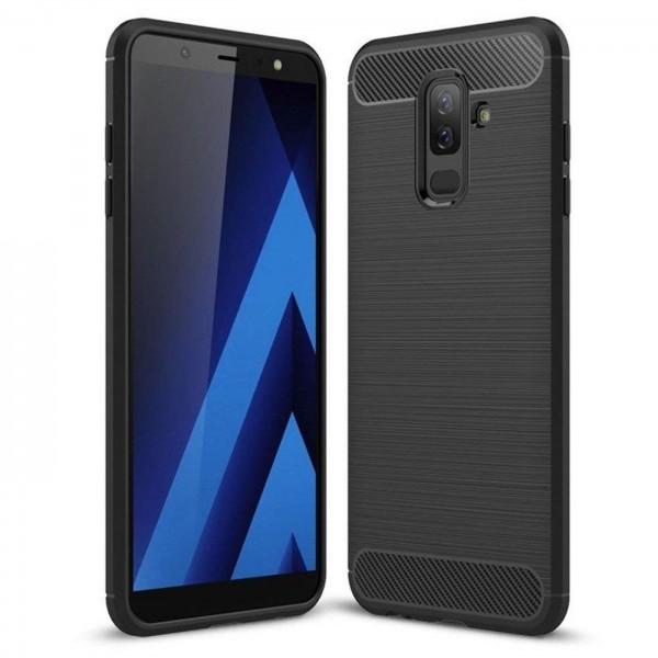 Safers Carbon Hülle für Samsung Galaxy A6 Plus Schutzhülle Handy Case Cover