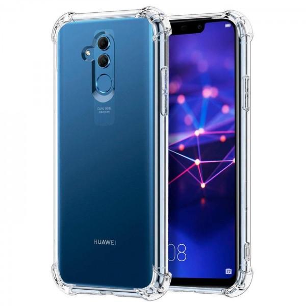 Safers Rugged TPU für Huawei Mate 20 Lite Schutzhülle Anti Shock Handy Case Transparent