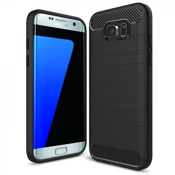 Safers Carbon Hülle für Samsung Galaxy S7 Edge Schutzhülle Handy Case Cover