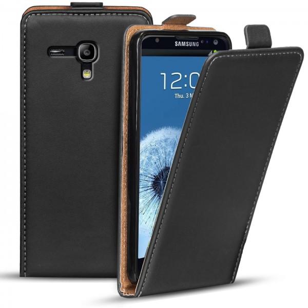 Safers Flipcase für Samsung Galaxy S3 Mini Hülle Klapphülle Cover klassische Handy Schutzhülle