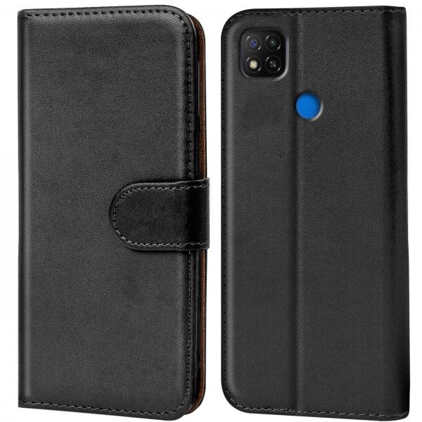 Safers Basic Wallet für Xiaomi Redmi 9C Hülle Bookstyle Klapphülle Handy Schutz Tasche