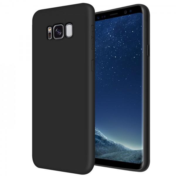 Safers Classic TPU für Samsung Galaxy S8 Plus Schutzhülle Hülle Schwarz Handy Case