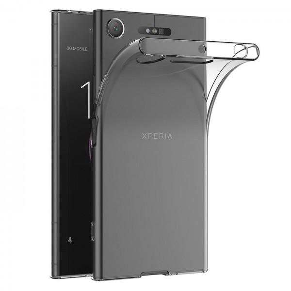 Safers Zero Case für Sony Xperia XZ1 Hülle Transparent Slim Cover Clear Schutzhülle