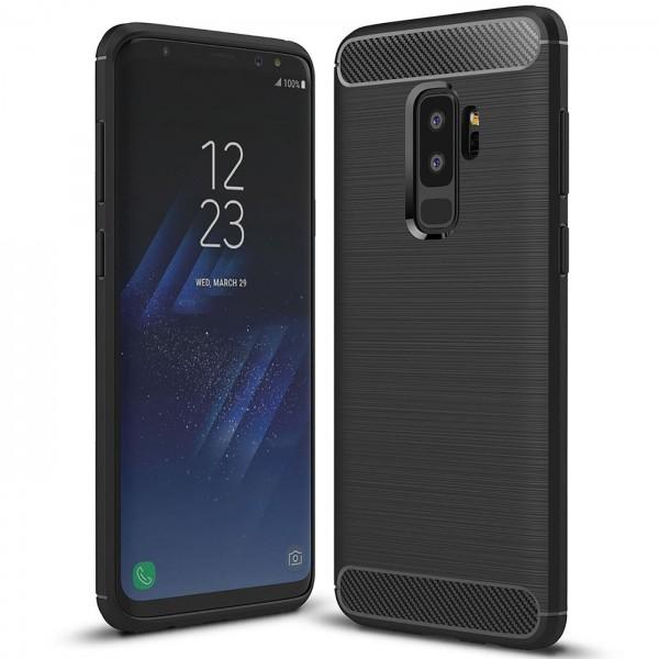 Safers Carbon Hülle für Samsung Galaxy S9 Plus Schutzhülle Handy Case Cover
