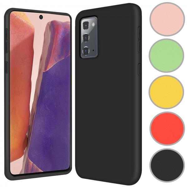 Safers Color TPU für Samsung Galaxy Note 20 Hülle Soft Silikon Case mit innenliegendem Stoffbezug