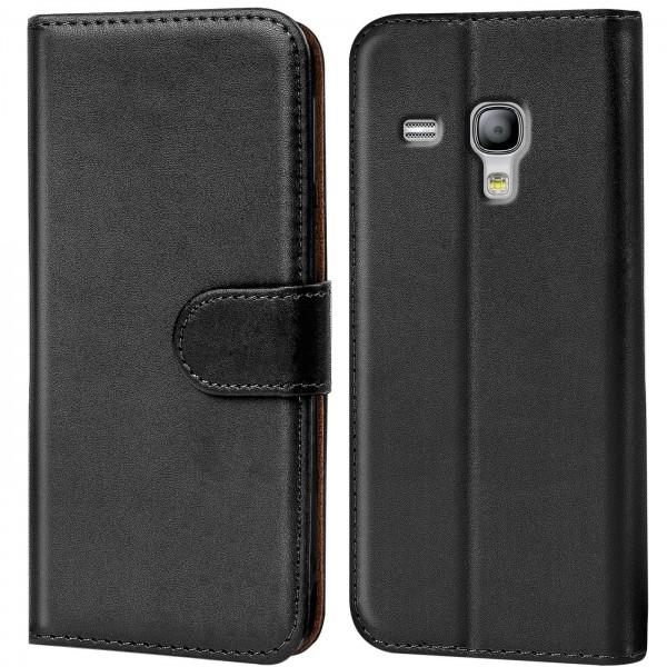 Safers Basic Wallet für Samsung Galaxy S3 Mini Hülle Bookstyle Klapphülle Handy Schutz Tasche