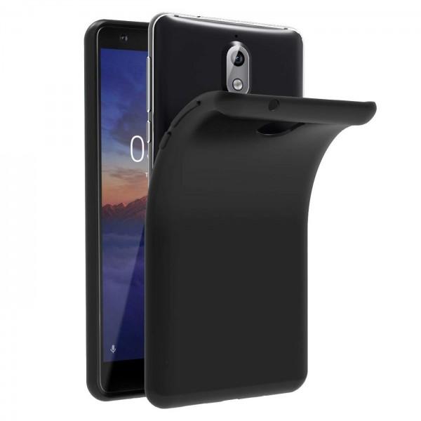 Safers Classic TPU für Nokia 3.1 Schutzhülle Hülle Schwarz Handy Case