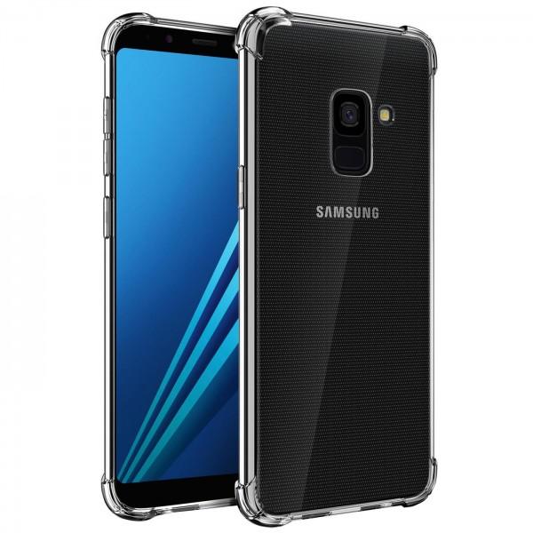 Safers Rugged TPU für Samsung Galaxy A8 Schutzhülle Anti Shock Handy Case Transparent Cover