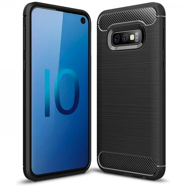 Safers Carbon Hülle für Samsung Galaxy S10e Schutzhülle Handy Case Cover