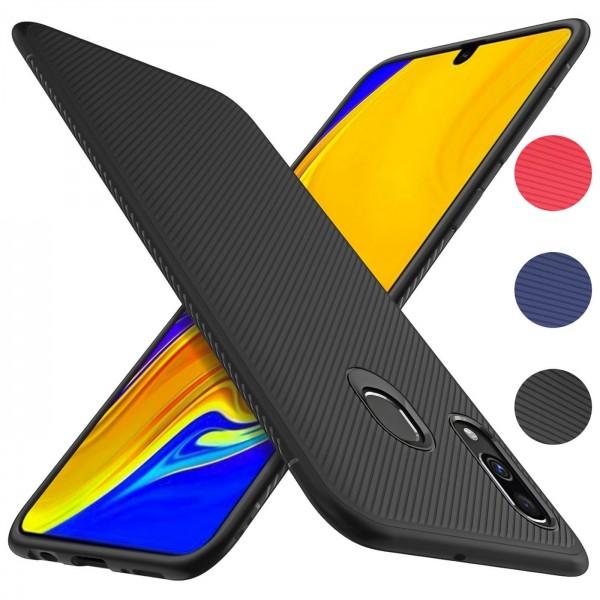 Safers Fancy für Samsung Galaxy A40 Handy Schutz Hülle Silikon Case Luxuriös Cover