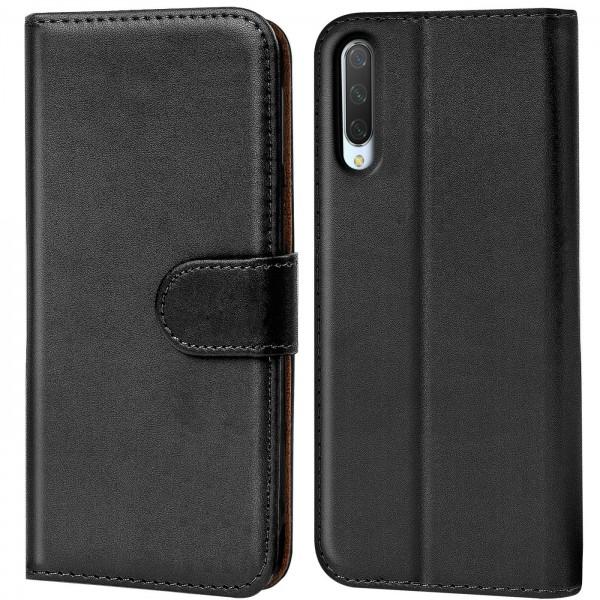 Safers Basic Wallet für Xiaomi Mi A3 Hülle Bookstyle Klapphülle Handy Schutz Tasche