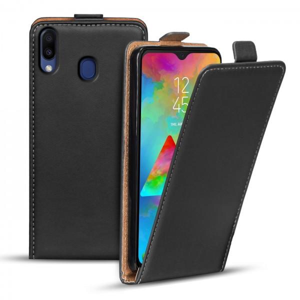 Safers Flipcase für Samsung Galaxy M20 Hülle Klapphülle Cover klassische Handy Schutzhülle