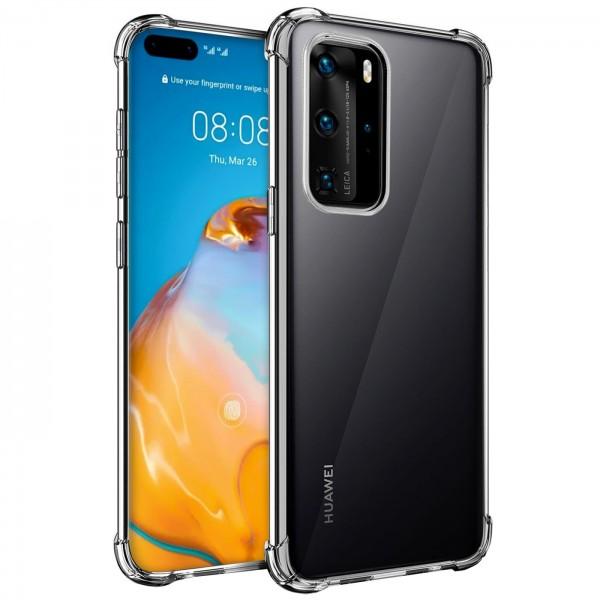 Safers Rugged TPU für Huawei P40 Pro Schutzhülle Anti Shock Handy Case Transparent Cover