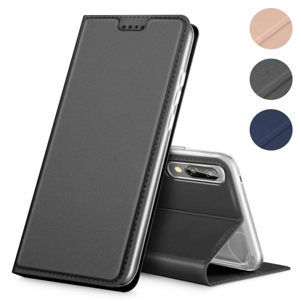 Safers Electro Flip für Huawei P20 Hülle Magnet Case Handy Tasche Klapphülle