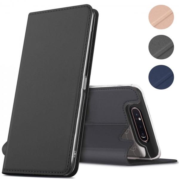 Safers Electro Flip für Samsung Galaxy A80 Hülle Magnet Case Handy Tasche Klapphülle