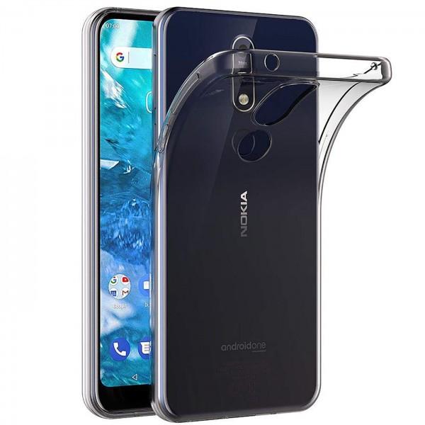 Safers Zero Case für Nokia 7.1 Hülle Transparent Slim Cover Clear Schutzhülle