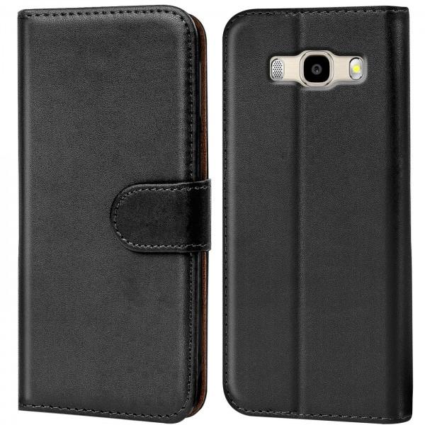 Safers Basic Wallet für Samsung Galaxy J7 2016 Hülle Bookstyle Klapphülle Handy Schutz Tasche