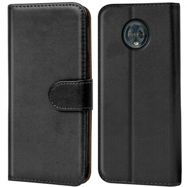 Safers Basic Wallet für Motorola Moto G6 Plus Hülle Bookstyle Klapphülle Handy Schutz Tasche