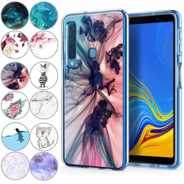 Safers IMD Case für Samsung Galaxy A9 2018 Hülle Silikon Case mit Muster Schutzhülle