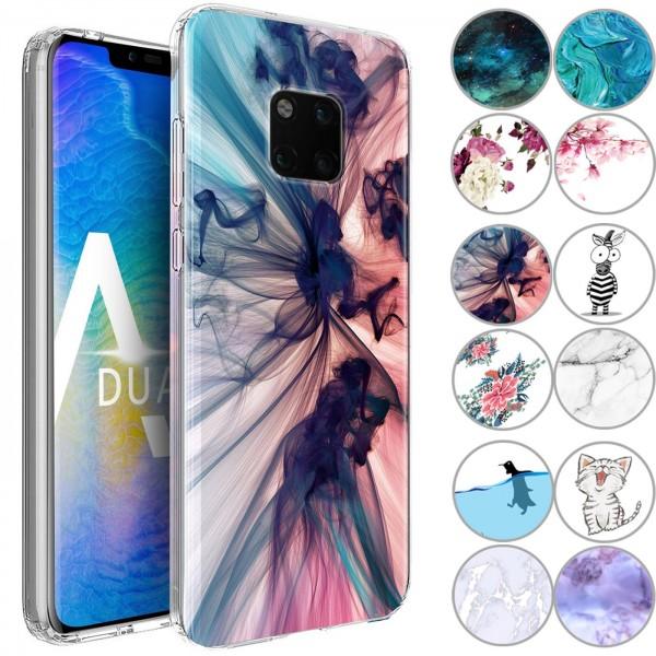 Safers IMD Case für Huawei Mate 20 Pro Hülle Silikon Case mit Muster Schutzhülle