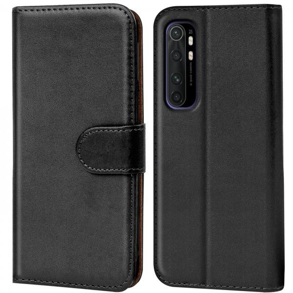 Safers Basic Wallet für Xiaomi Mi Note 10 Lite Hülle Bookstyle Klapphülle Handy Schutz Tasche